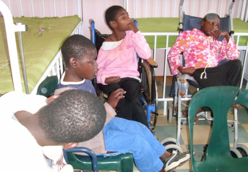 A group of disabled children of school going age languishing in a poorly resourced care centre