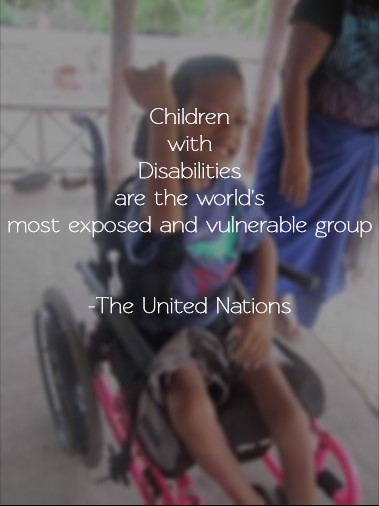 Children with disabilities are the worlds most exposed and vulnerable group